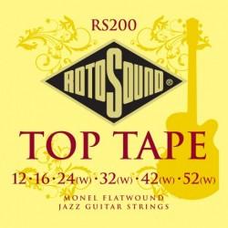 Rotosound RS200 - Jeu de cordes filet plat 12-52 pour guitare électrique