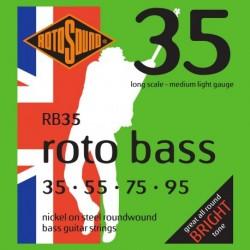 Rotosound RB35 - Jeu de cordes pour basse 35-95