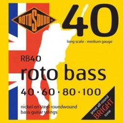 Rotosound RB40 - Jeu de cordes pour basse 40-100