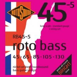 Rotosound RB45-5 - Jeu de cordes pour basse 5 cordes 45-130