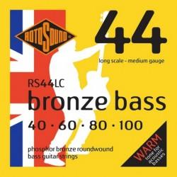 Rotosound RS44LC - Jeu de cordes phosphor pour basse acoustique 40-100