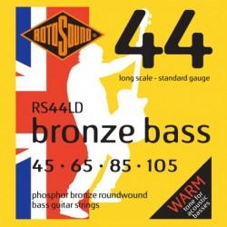 Rotosound RS44LD - Jeu de cordes phosphor pour basse acoustique 45-105