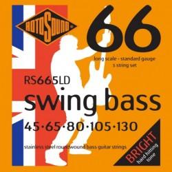 Rotosound RS665LD - Jeu de cordes stainless pour basse 45-130