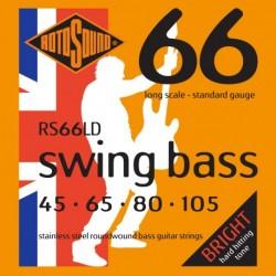 Rotosound RS66LD - Jeu de cordes stainless pour basse 45-105