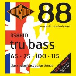 Rotosound RS88LD - Jeu de cordes nylon noir pour basse 65-115 (équivalent 45-105)