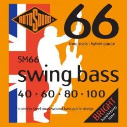 Rotosound SM66 - Jeu de cordes stainless pour basse 40-100