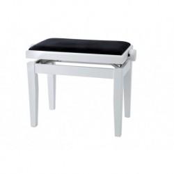 Gewa 130020 - Banquette Piano DeLuxe Blanc mat Assise noire