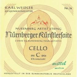 Nurnberger 639641 - Corde Violoncelle Künstler 3/4