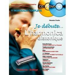 Sébastien Charlier - Je Débute l'Harmonica - Recueil + CD + DVD