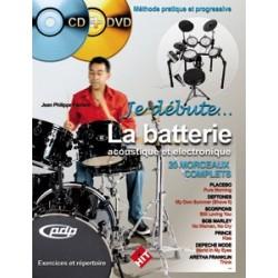 J-P. Fanfant - Je Débute la Batterie - Recueil + CD + DVD