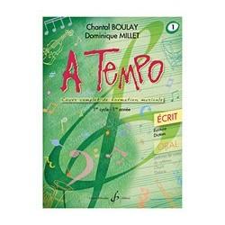 Chantal Boulay - A Tempo - Partie Ecrite - Volume 1 - Recueil
