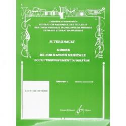 Michel Vergnault - Cours De Formation Musicale - Debutant 1 - Recueil