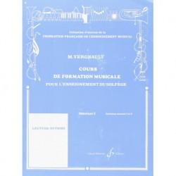 Michel Vergnault - Formation Mus Pour L'Enseignement Du Solfege Deb2 - Recueil