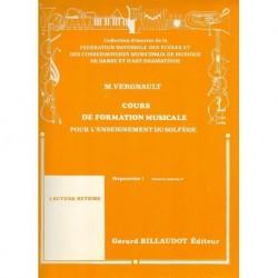 Michel Vergnault - Cours De Formation Musicale - Preparatoire 1 - Recueil