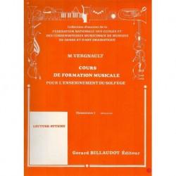 Michel Vergnault - Formation Mus Pour L'Enseignement Du Solfege Elem2 - Recueil