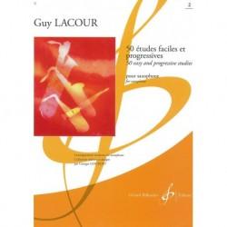 Gérard Billaudot GB15492B - Guy Lacour - 50 Etudes Faciles & Progressives - Volume 2 - Recueil