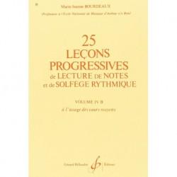 Gérard Billaudot GB1890 - Marie-Jeanne Bourdeaux - 25 Lecons Progressives Vol. 4B - Recueil