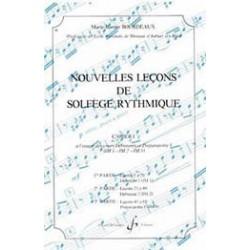 Gérard Billaudot GB4110 - Marie-Jeanne Bourdeaux - Nouvelles leçons de solfège rythmique Volume 1 - Recueil