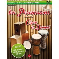 David Mirandon - Les Percus en Vidéo, cajon et djembé -nouvelle ed - Recueil + DVD