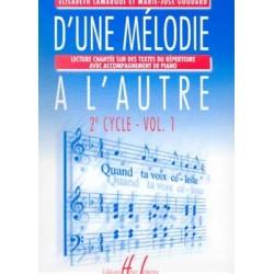 Elisabeth Lamarque/Marie-José Goudard - D'une mélodie à l'autre Vol.1 - Recueil