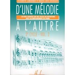 Elisabeth Lamarque/Marie-José Goudard - D'une mélodie à l'autre Vol.2 - Recueil