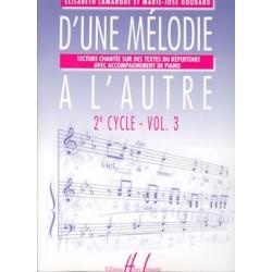 Elisabeth Lamarque/Marie-José Goudard - D'une mélodie à l'autre Vol.3 - Recueil