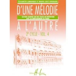 Elisabeth Lamarque/Marie-José Goudard - D'une mélodie à l'autre Vol.4 - Recueil