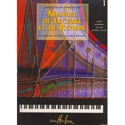 J.C. Sangouard - Manuel de lecture et de rythme Vol.1 - Recueil