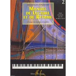 J.C. Sangouard - Manuel de lecture et de rythme Vol.2 - Recueil