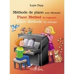 Lajos Papp - Méthode de piano pour débutants - Recueil