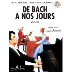 Charles Hervé/Jacqueline Pouillard - De Bach à nos jours Vol.2B - Recueil