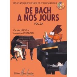 Charles Hervé/Jacqueline Pouillard - De Bach à nos jours Vol.3A - Recueil