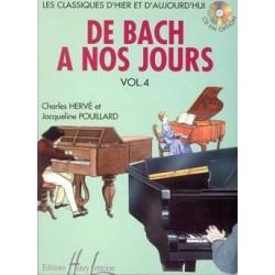 Charles Hervé/Jacqueline Pouillard - De Bach à nos jours Vol.4A - Recueil