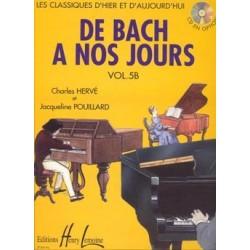 Charles Hervé/Jacqueline Pouillard - De Bach à nos jours Vol.5B - Recueil