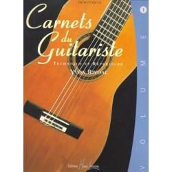 Yvon Rivoal - Carnets du guitariste Vol.1 - Recueil
