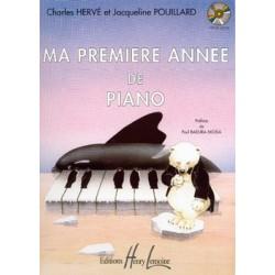 Charles Herve/Jacqueline Pouillard - Ma première année de piano - Recueil