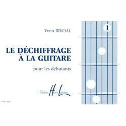 Yvon Rivoal - Déchiffrage à la guitare Vol.1 - Recueil