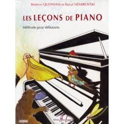 Béatrice Quoniam/Pascal Nemirovski - Les Leçons de piano - Recueil