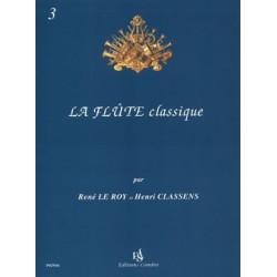 René le Roy/Henri Classens - La Flûte classique Vol.3 - Recueil