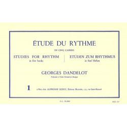 Georges Dandelot - Etude Du Rythme Vol.1 - Recueil