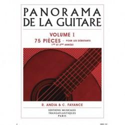 Rafaël Andia - Panorama De La Guitare - Vol. 1 - Recueil + CD