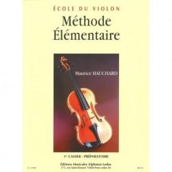 Maurice Hauchard - Méthode Élémentaire Vol.1 - Préparatoire Violin - Recueil