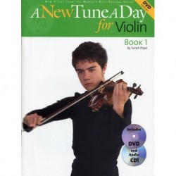 Sarah Pope - A New Tune A Day: Violin - Book 1 - Recueil + CD + DVD