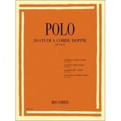 Enrico Polo - 30 Studi a corde doppie Violin - Recueil