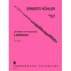 E. Kohler - 20 Lektionen 1 Opus 93 Flute - Recueil