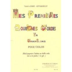 Valerie Bime-Apparailly - Mes premières Doubles Cordes en Chansons - Violon - Recueil