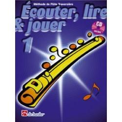 Jean Castelain/Michiel Oldenkamp - Écouter, Lire & Jouer 1 Flûte Traversière - Recueil + CD