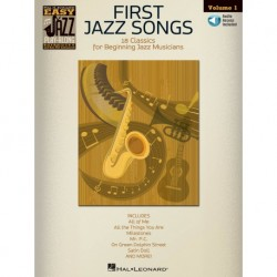 First Jazz Songs Flute, Violin, Guitar, Clarinet, Trumpet, Saxophone, Trombone, Chords - Recueil + CD