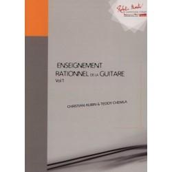 Christian Aubin - Enseignement Rationnel de la Guitare - Vol. 1 - Recueil