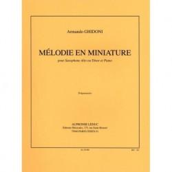 Ghidoni - Melodie En Miniature Saxophone et Piano - Recueil